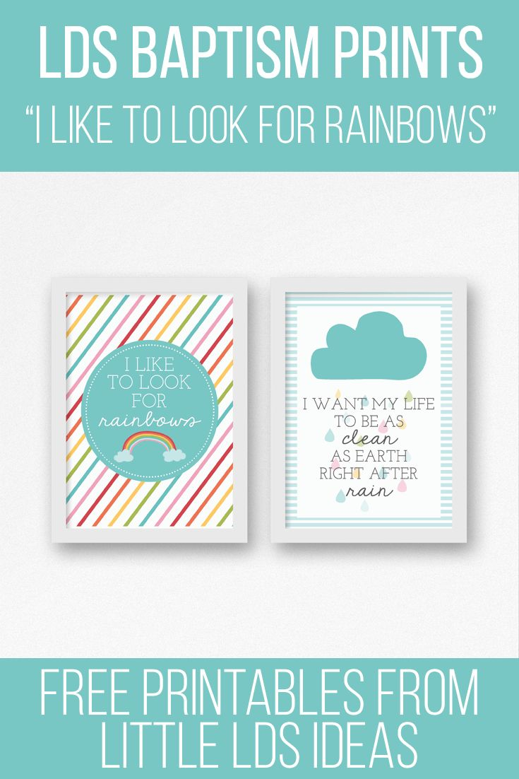 Free LDS Baptism Printables from Little LDS Ideas