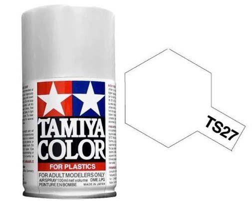 Tamiya TS-27 MATTE WHITE  Spray Paint Can  3.35 oz. (100ml) 85027 #Tamiya