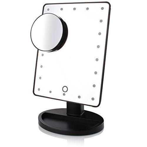 Lighted Makeup Mirror with 22 Lights +Removal 10x Magnification Spot+Free User Guide-Vanity Cosmetic Mirror