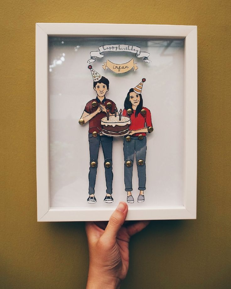 Irfan & Dini  Paper-doll Character Framed