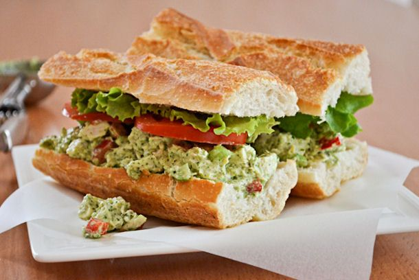 Grilled Chicken Club Sandwich With Pesto Mayo Recipe — Dishmaps