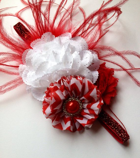 Christmas headband baby Holliday headband by MonkeyToesHairBows