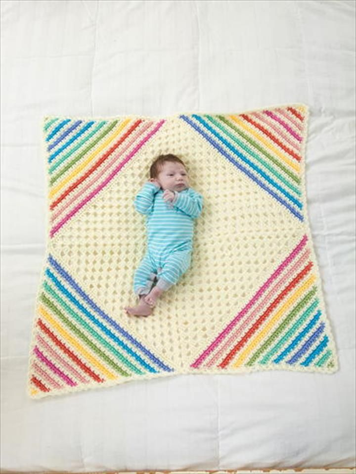 13 Free Corner to Corner Baby Crochet Blanket Patterns
