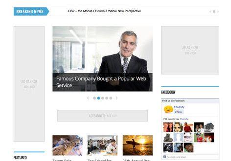 Magazine A 3 Column Responsive WordPress Theme with Themify Builder