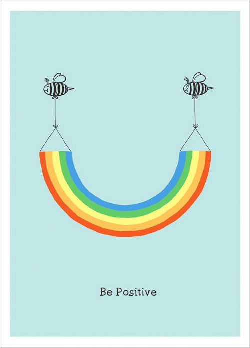 Be Positive Inspiring Poster Design ilovedoodle1 Cute Inspiring Posters You Would Love to Buy | A Collection From ilovedoodle