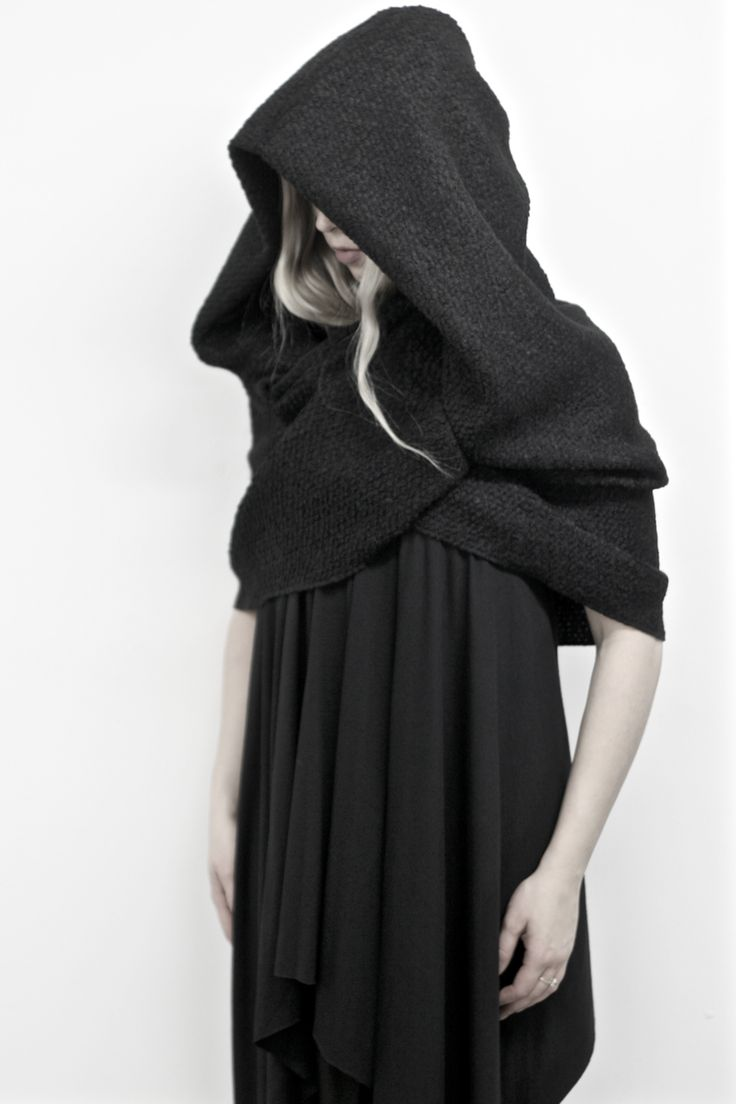 @Nuitclothing Winter2016 Capsule Mythic: Hooded Infinity Cowl - Fashion Fantasy - Darkness