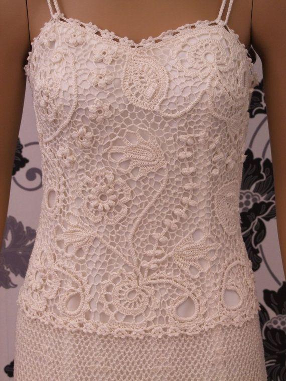 Made to order wedding dress SHARYLirish crochet by LaimInga