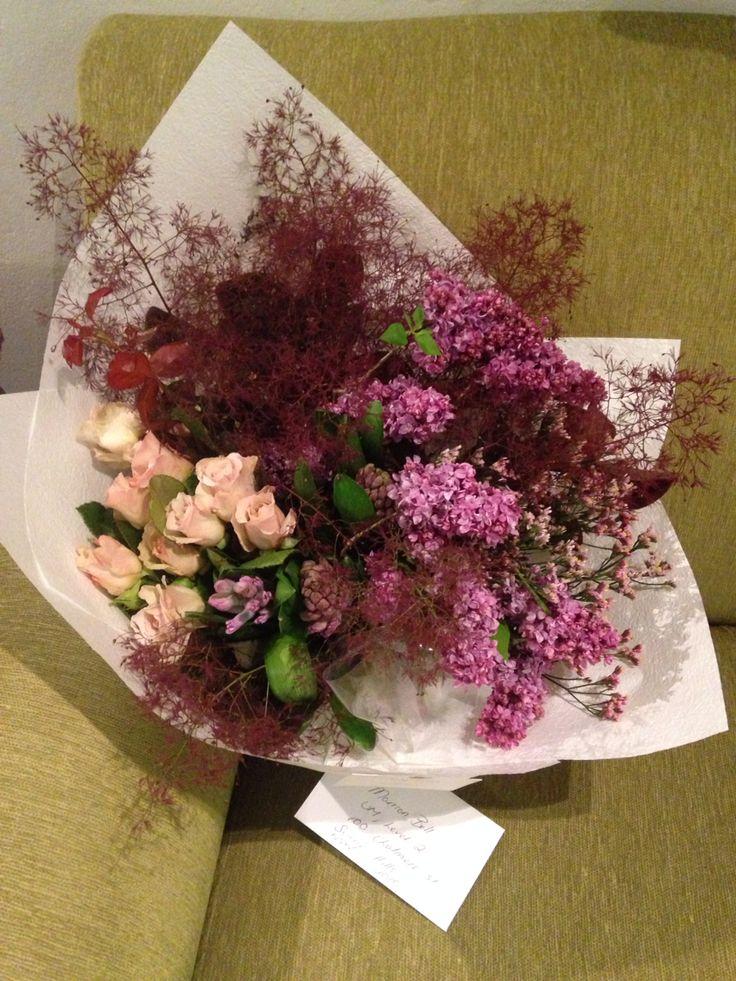 Heavenly smoke bush, lilac, roses and hyacinth