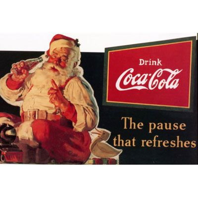 You can thank Coca-Cola for allowing Santa to shake his belly like a bowl full of jelly. Before Coke ads, Santa Claus was depicted  as a tall and gaunt man usually dressed in blue, green, or yellow. Then, in the 1930s, Swedish-American artist Haddon Sundblom drew a fat, jolly man wearing Coca-Cola red (and drinking a bottle, of course) and changed what Santa looked like forever. We cannot even imagine a world without fat Santa.   - Delish.com