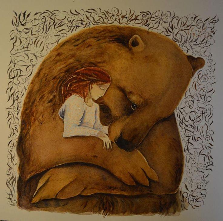 Картинки девочка с медведем нарисованные, поздравления свадьбой английском