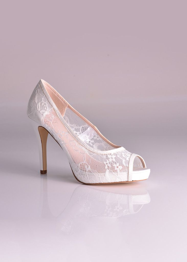 Nearly nude with a sexy lace look and heel. Imagine wearing this on your #wedding day?  Available at Bride&co South Africa. Click to View More or Get the Price!