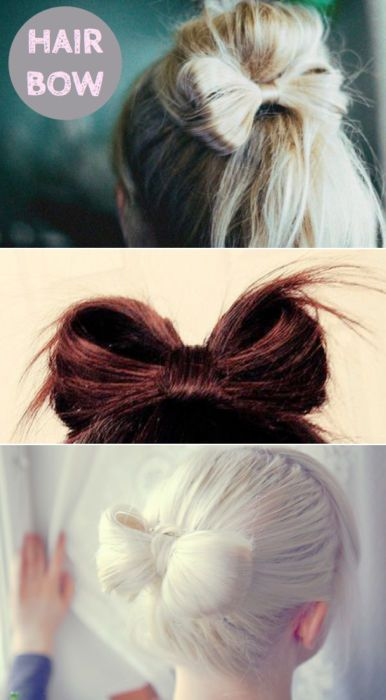 Hair Bow Hairstyle Tutorial                              …