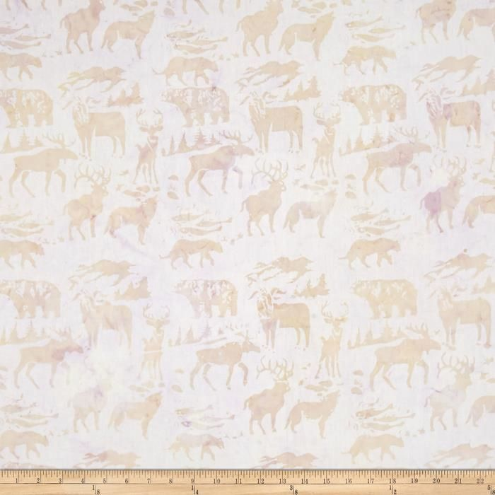 Island Batik Woodland Animals Light Beige from @fabricdotcom  Designed by Island Batik, this Indonesian batik is perfect for quilting, apparel, and home décor accents. Colors include shades of beige and cream.