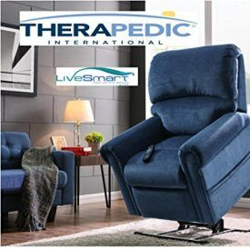 """Therapedic Lift Chair Recliner is a 3-Position Mechanism, with Carbon Fiber Heat & Sonic Massage with Culp LiveSmart Stain and Moisture Repellent fabric. The """"Dover"""" is The Best, Most Technically Advanced Lift Chair Recliner on the Market. Product Features Therapedic Lift Chair Recliner has Gel-Infused Foam to keep you cool and relieve typical pressure points […]"""
