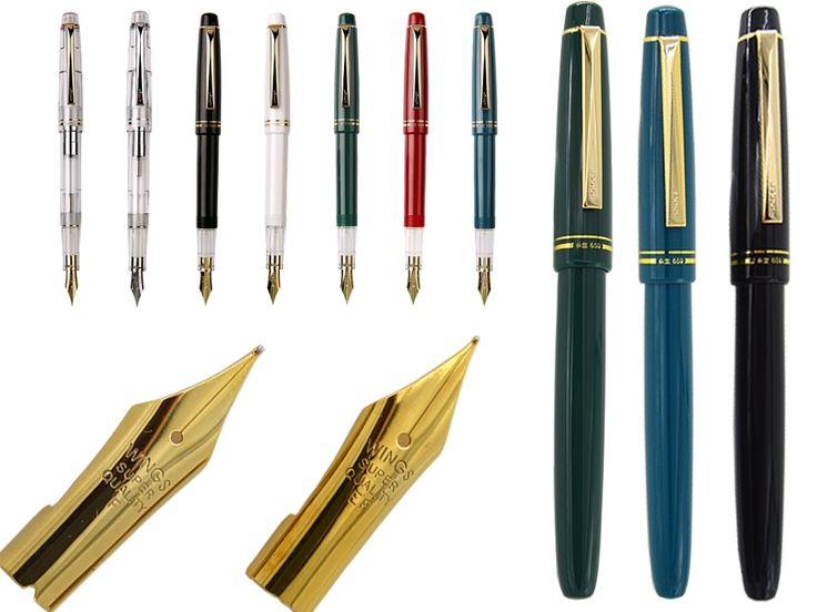 19.00$  Buy here - http://alirk8.shopchina.info/go.php?t=32771520629 - Fountain pen set of  F + EF 22K Gold Plated Nib WingSung  659 Signature pen office school stationery  Free Shipping  #magazineonlinewebsite