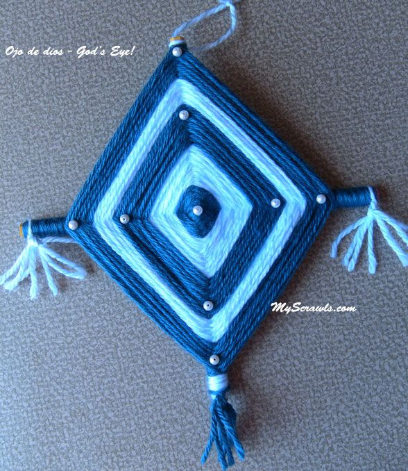 Ojo de dios: Eye of God! ~ Ojo de dios is a traditional Mexican craft for good fortune. Kids enjoy making Ojo de dios on Cinco de Mayo. Cinco de Mayo is celebrated in US as a day of Mexican heritage and pride.  FUN!