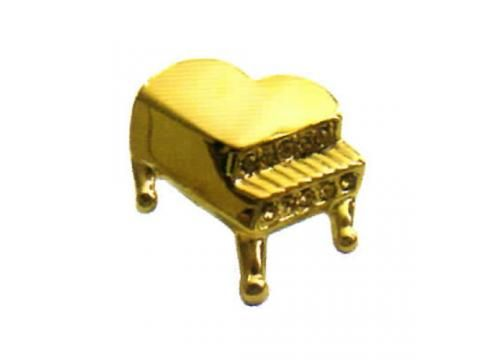 Brooch - Piano Pin - BC Wholesalers. Gold Brooch in the shape of Grand Piano.