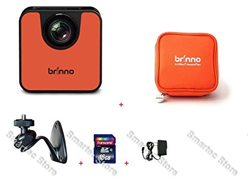 Brinno WIFI HDR Time Lapse Camera TLC120 + ATP100 + AWM100 + 16GB + PS. Small and Pocketable! Experience the simplest time lapse camera, explore any project you want to record. Capturing and sharing time lapse videos has never been easier. Instant Time Lapse, Instant Sharing, Instant Fun.IPX4 Splashproof and weather resistant design is to withstand driving rain.Capture your creative time lapse rhythm and motif with the Brinno TLC120 Wi-Fi and Bluetooth enable Time Lapse Camera. Perfectly...