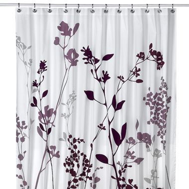 Puple/grey shower curtin