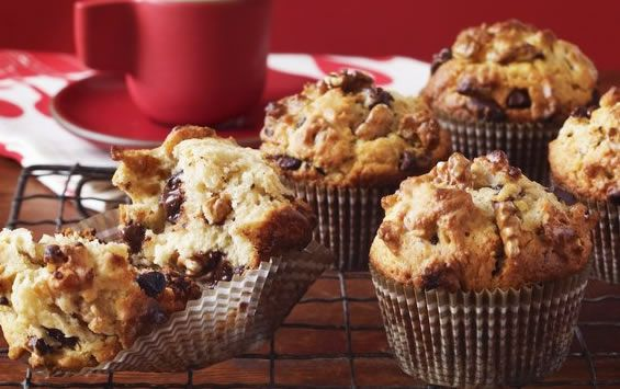 And to all lovers of the most beloved pastries in the world ... Milk #chocolate #Muffins with #walnuts