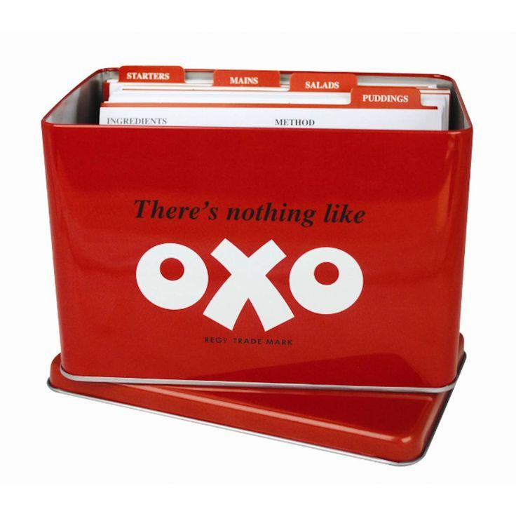 buy retro oxo recipe card tin