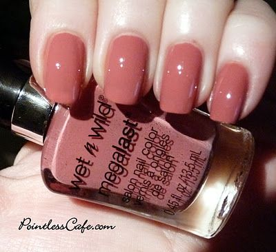 Wet N Wild Under Cover nail polish - this is My favorite go to color. It matches everything in my closet.