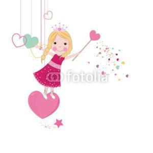 Peri Kızı Vektör Tasarımlarım * Cute love fairy tale
