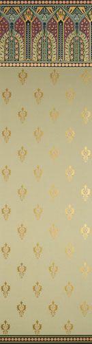 Bradbury Victorian Home Wallpapers | Jasper Green Dresser II Roomset
