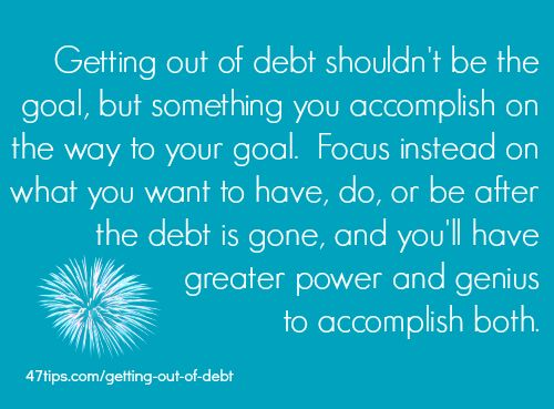 Getting Out of Debt   47 Positive Thinking Tips
