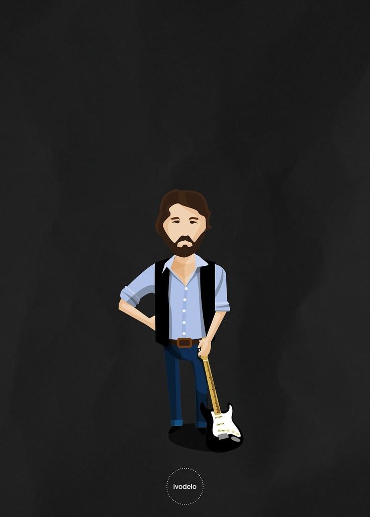 Eric © ivodelo_ivan de lorenzo - 2013 www.facebook.com/i.like.ivodelo  #Eric #Clapton #fender #blackie #slowhand #stratocaster #illustration #ivodelo #guitar #rock #blues