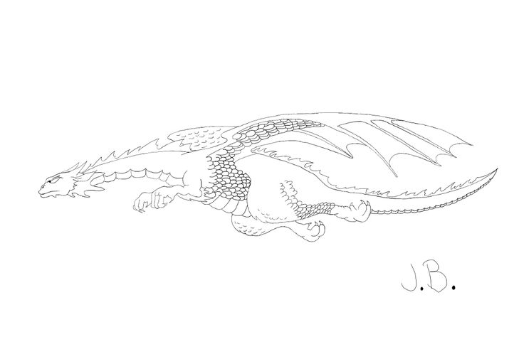 Drawing #2 on my wacom board :D. From: How to Draw Dragons in Simple Steps, by Paul Bryn Davies