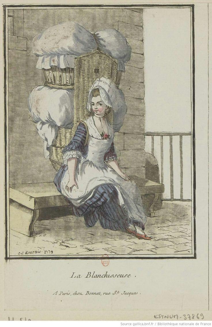 Titre:La Blanchisseuse : [estampe] / [Louis-Marin Bonnet] Auteur:Bonnet, Louis-Marin (1743-1793). Graveur