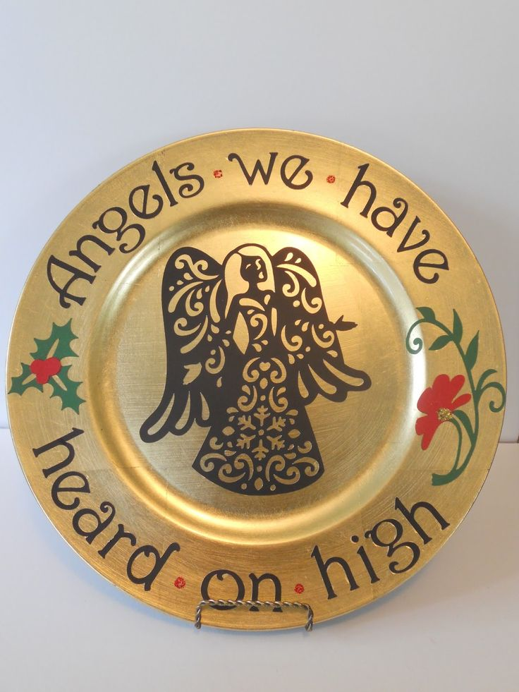 GOLD CHARGER DECORATED CHRISTMAS PLATES - Google Search & 857 best Decorative plates images on Pinterest   Charger plates ...