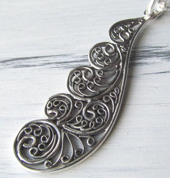 Sterling SIlver Fairy Wing Necklace by TheZenOwl on Etsy, $42.00