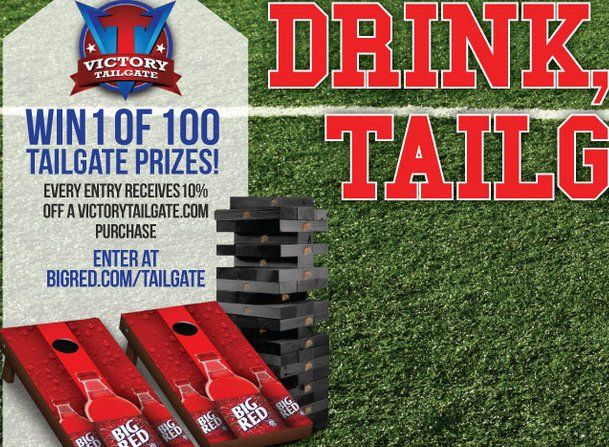 50 Cornhole Prizes, each comprised of 1 Victory Tailgate cornhole set and 50 Tumble Tower Prizes, each comprised of 1 Victory Tailgate tumble tower can be won! $8,500.00 value for all.    Only one entry per valid email address will be allowed.