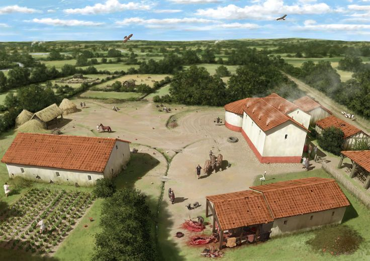 A Romano British Farm Around 300 Ce By Peter Urmston