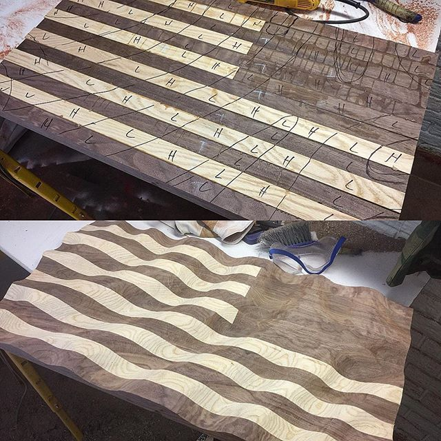 I'm working on a military Old Glory Amber Waves of Grain for @soc_f. It w