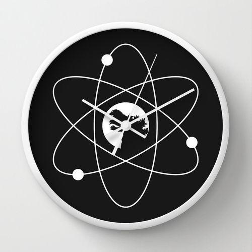 GODZILLA (ATOMIC POWER) Wall Clock @ http://society6.com/product/godzilla-atomic-power_wall-clock#33=283&34=285
