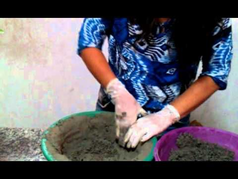 Como fazer vasos de cimento... passo a passo - YouTube