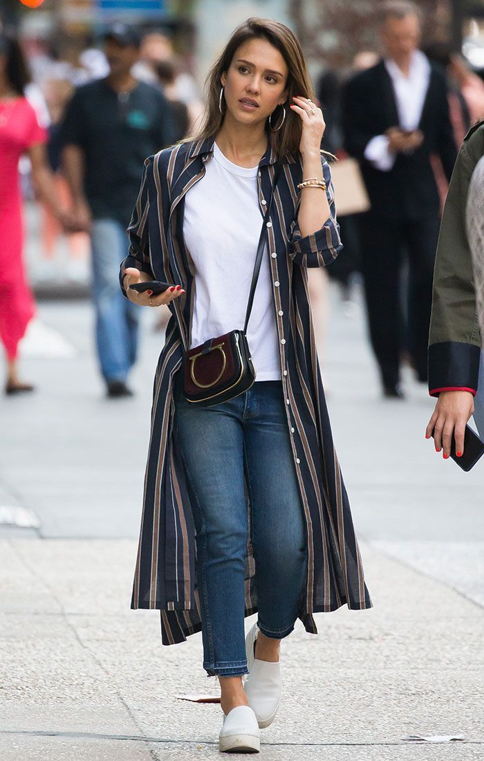 The Sneakers Jessica Alba Is Wearing All Around NYC via @WhoWhatWear