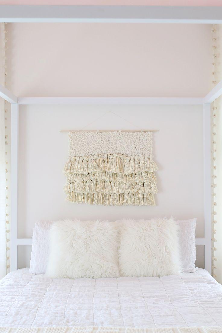 DIY: faux woven fiber art