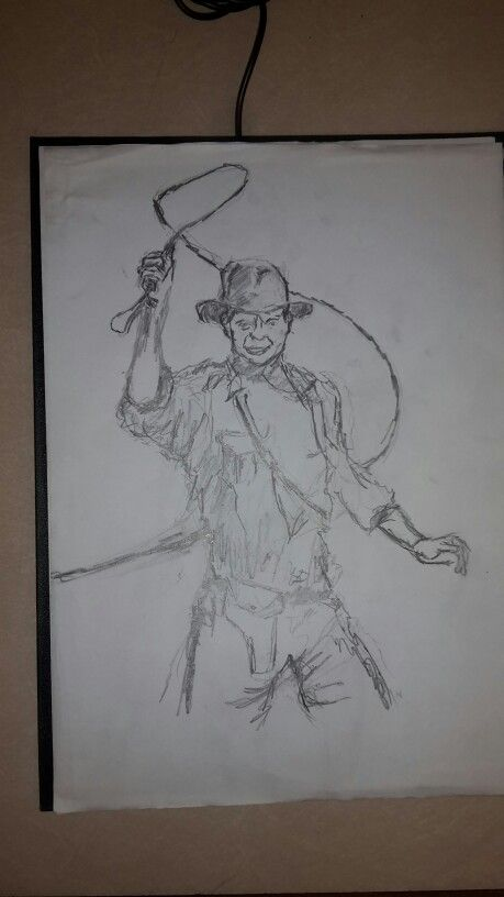 Indiana jones sketch #WW #Sketch