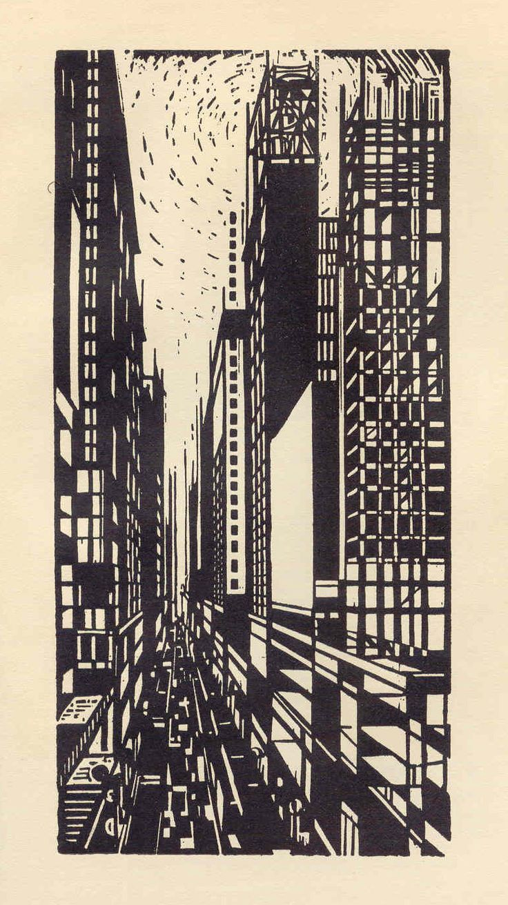 """From the series """"America in the Woodcut"""" by Max Thalmann"""