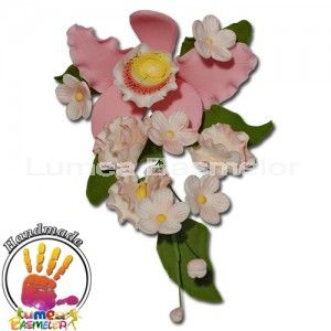 Buchet Orhideea Cattleya roz