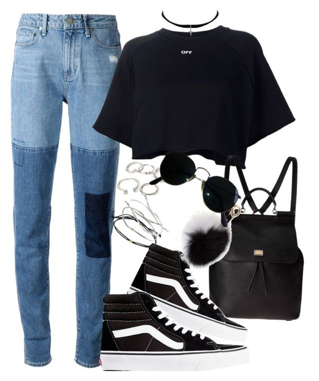 """""""Untitled #521"""" by chandele ❤ liked on Polyvore featuring Forever 21, Paige Denim, Off-White, Yves Saint Laurent, Dolce&Gabbana, Vans, Adrienne Landau, Topshop, Ray-Ban and vans"""