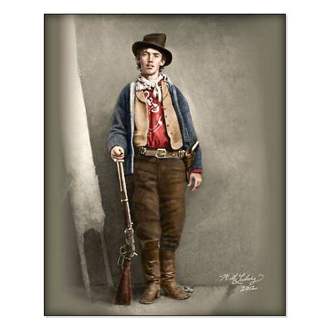 Billy The Kid Colorized.