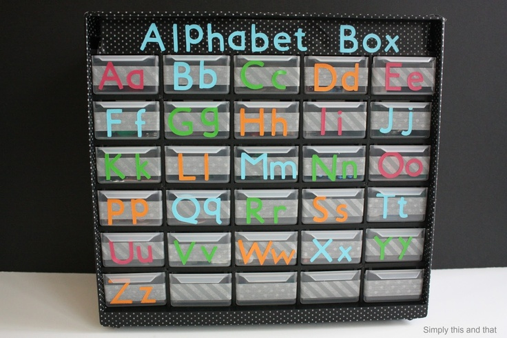 Simply This and that: DIY Alphabet Box
