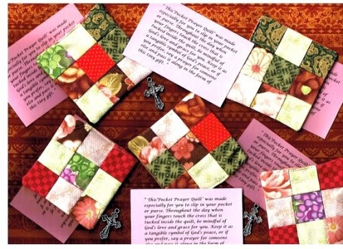 2 - Pocket Prayer Inspirational Quilts.