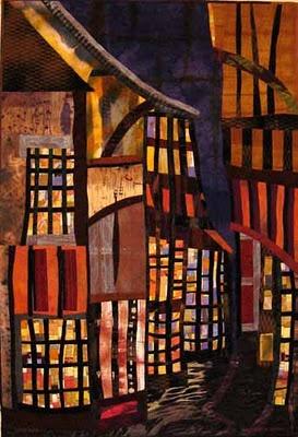 love this by Elizabeth BartonFiberart, Quilt Inspiration, Elizabeth Barton, Art Quilt, Beautiful Quilt, House Quilt, Barton Art, Quilt Art, Fiber Art