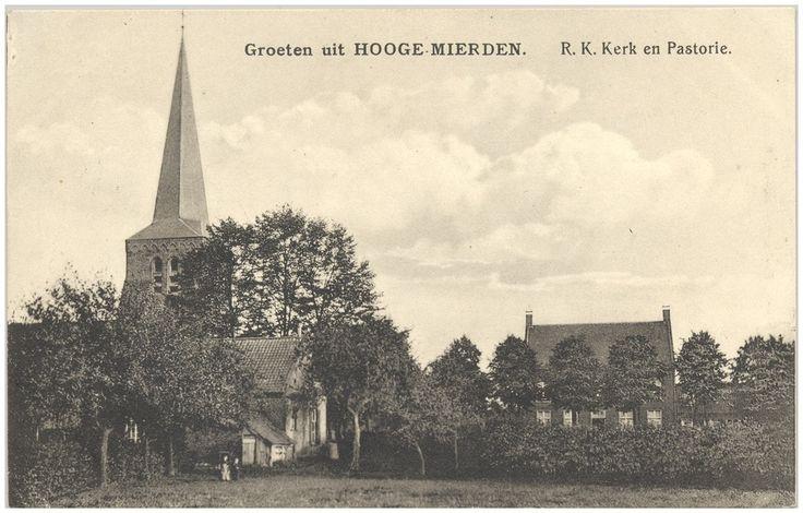 Hooge Mierde, RK Kerk en Pastorie. 1900 - 1910